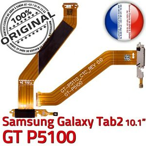 ORIGINAL-Samsung-Galaxy-TAB2-P5100-Connecteur-Charge-MicroUSB-Nappe-Microphone