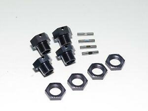 TKR9600 TEKNO ET48 2.0 TRUGGY FRONT REAR 17MM WHEEL HEXES WITH LOCKING NUTS