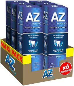 6x AZ Dentifricio Pro Expert Prevenzione Superiore, Pulizia Denti Completa