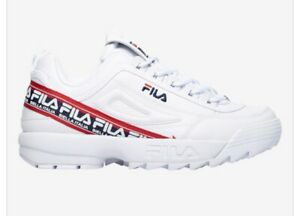 Details about Fila Disruptor II Biella Italia Men's Size White/Navy/Red.  LEATHER.