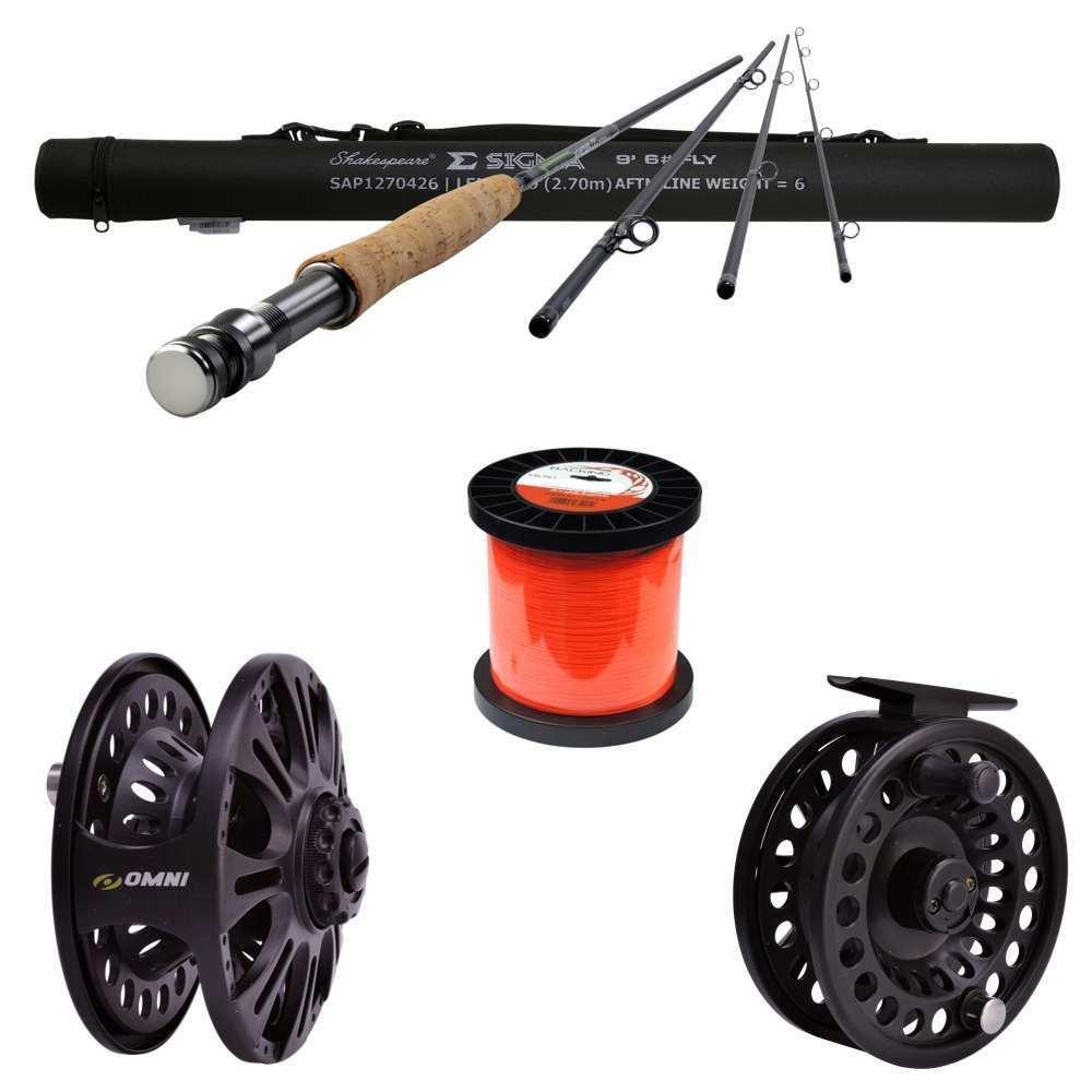 Pesca con mosca-set   6 papel + vara + backing