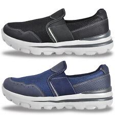 Mens Walk Pro MEMORY COMFORT FOAM Slip On Casual Trainers Only £16.99 FREE P&P
