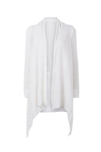 White Cardigan Cotton M Malo Open Ladies Size Medium fWOHxnzx