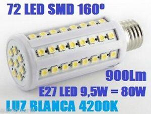 Bombilla-E27-72-LED-360-SMD-9-5w-75w-LUZ-BLANCA-4200K-Bajo-Consumo-corn-light