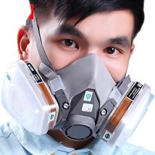 7pcs Set Suit Respirator Painting Spraying Face Gas Half Masks For 3M 6200 5N11