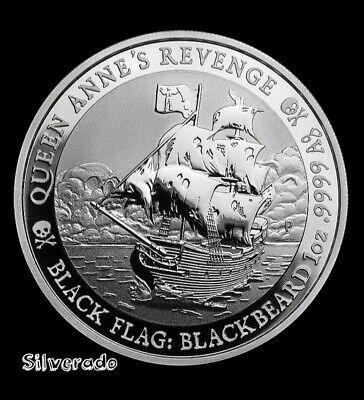 2019 Queen Anne's Revenge-Black Flag Blackbeard 1 oz Silver .9999
