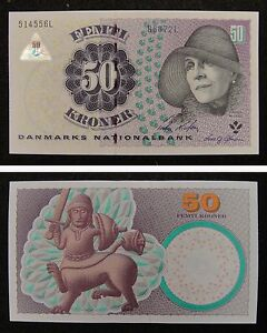Denmark Banknote 50 Kroner 2007 UNC