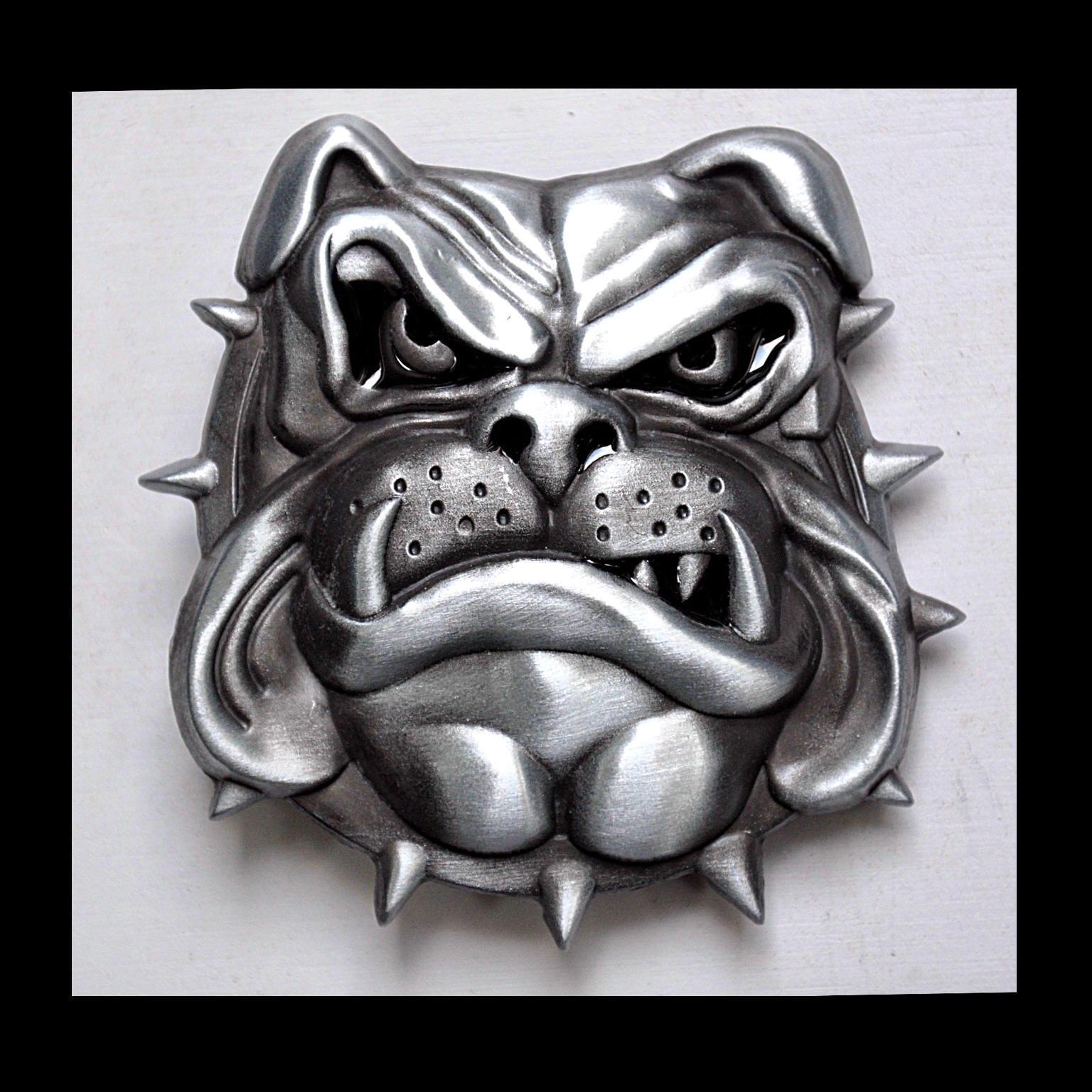 Bulldog Gürtelschnalle Comic Karikatur Hunde Bad Bulldogge Buckle *271