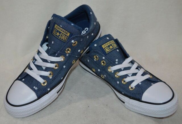 b2bc7999d8ac Converse Women s All Star Madison OX Navy Gold White Sneakers - Size 6 -