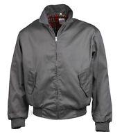 Harrington Jacket Bomber Classic Tartan Lined G9 Ska Punk Skinhead Mod Grey