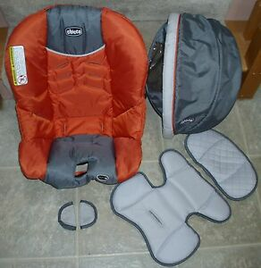 chicco keyfit keyfit 30 infant car seat replacement cover orange gray ebay. Black Bedroom Furniture Sets. Home Design Ideas