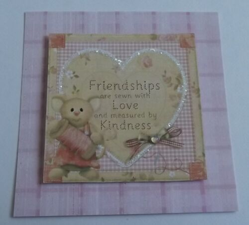 *** PACK 3 FRIENDSHIPS SEWN TOPPER EMBELLISHMENTS FOR CARDS OR CRAFTS ***