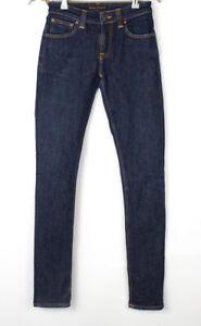 NUDIE Jeans Women Skinny Lin Slim Stretch Jeans Size W26 L32