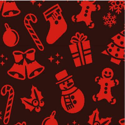 Red Christmas Chocolate Transfer Sheets Ebay