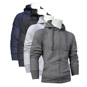 Mens-Zip-Up-Hoodie-Sweatshirt-Jumper-Casual-Gym-Tracksuit-Top-Jacket-Boys-Fleece