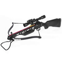 150 Lb Black Hunting Crossbow Bow + 4x20 Scope +12 Arrows / Bolts 180 175 80 50 on sale