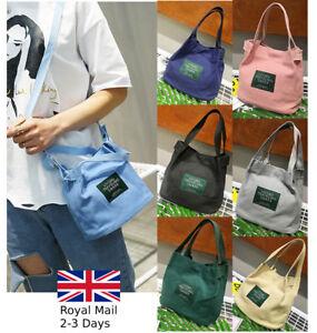 4cf4991a94a Details about Ladies Women Canvas Causal Mini Tote Bag Handbag Phone  Shoulder Bag Crossbody