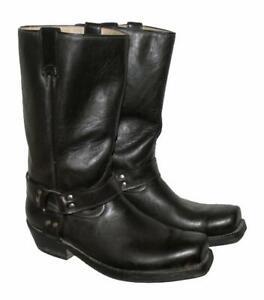 034-BUFFALO-034-Western-Stiefel-Lederstiefel-Biker-Boots-schwarz-ca-Gr-45-5