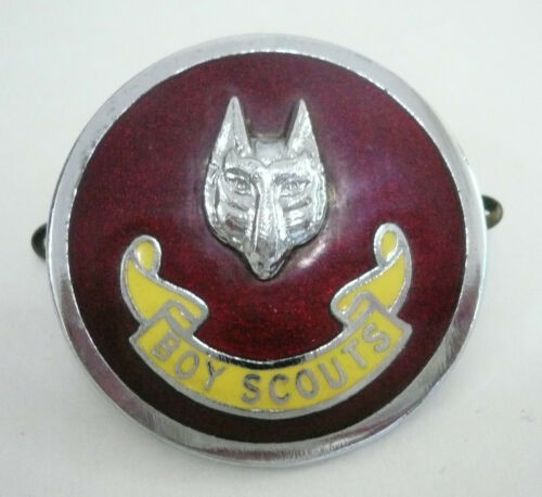 1960's UK BRITISH SCOUTS WOLF SCOUT ASSISTANT CUBMASTER ACM Metal Plume