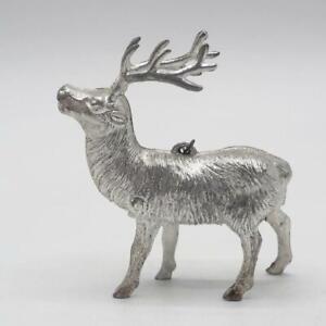 Vintage-Reno-Ciervo-Estatuilla-de-Arbol-de-Navidad-Ornamento-Vacaciones