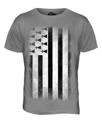 BRITTANY FADED FLAG MENS T-SHIRT TEE TOP FOOTBALL GIFT SHIRT CLOTHING JERSEY