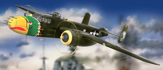 Hong Kong Models 1 32 North-American B-25J Mitchell 'The Strafer' E02