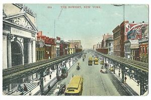 Details about The Bowery, New York PPC, 1907 Oil City P A  PMK to Miss  Baldwin, Worcester, GB