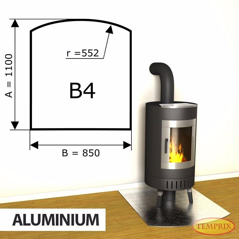 Funkenschutz   Kaminbodenplatte Ofenplatte   Ofenbodenplatte Ofen Aluminium B4
