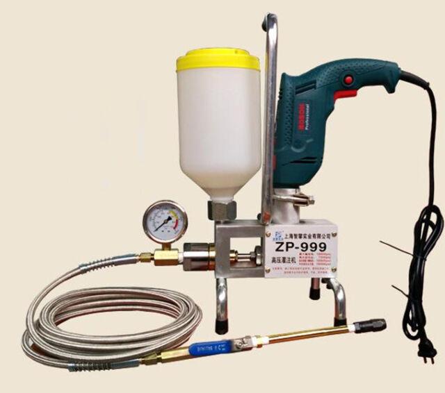 CE Electric Epoxy Injection Piston Pump Polyurethane Foam Grouting Steel  Machine