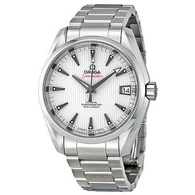 Omega Seamaster Aqua Terra White Dial Stainless Steel Mens Watch 23110392154001