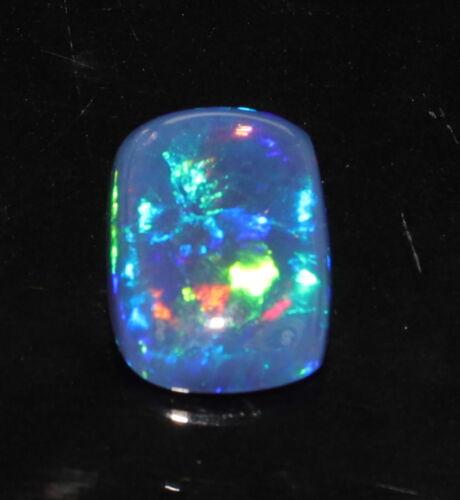 Natural  Ethiopian Opal Multi-Fire Black free size Cushion Cabochon Gemstone .