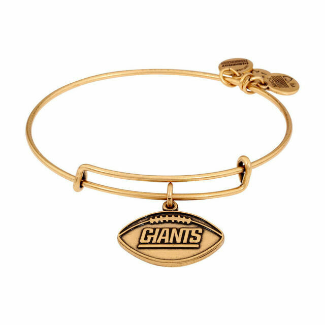 Nfl Ny Giants Gold Tone Charm Bangle