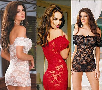 G-String Lingerie Sexy Lace Women Nightwear Dress Underwear Babydoll Sleepwear