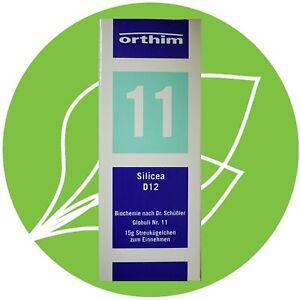 Schüßler Salz Nr11 Silicea D12 Globuli Pzn 08884582 Ebay