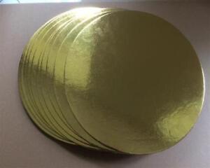 10-Cake-Drum-Tortenplatte-30-cm-Cake-Board-Tortenunterlage-3mm-rund-gold