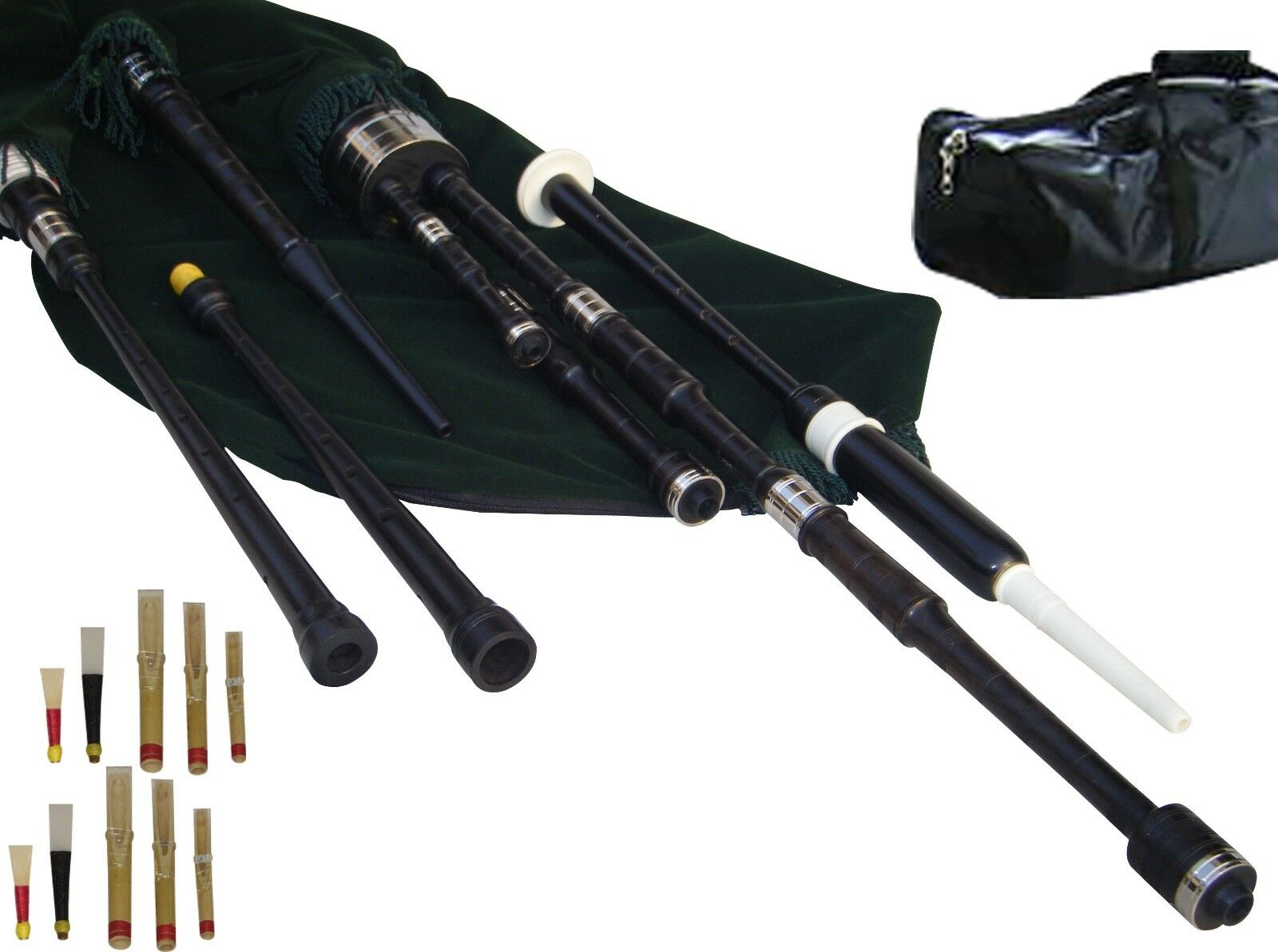 Border Pipes, Scottish Lowland Pipes, Reel Pipes oder Half Longs Mouth Blown