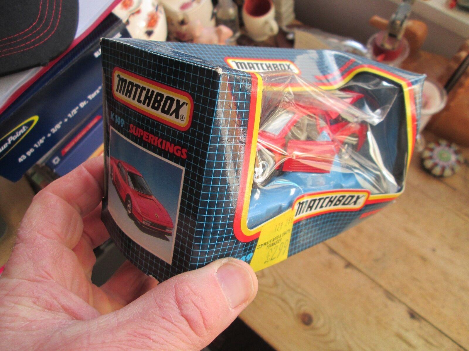 FERRARI TESAROSSA TESAROSSA TESAROSSA 1988 MATCHBOX BOXED   UNOPENED fd660a