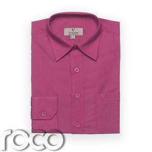 Chicos Cerise Camisa, Para Niños Shirts, Kids Camisas Formal Camisetas, Camisas De Vestir