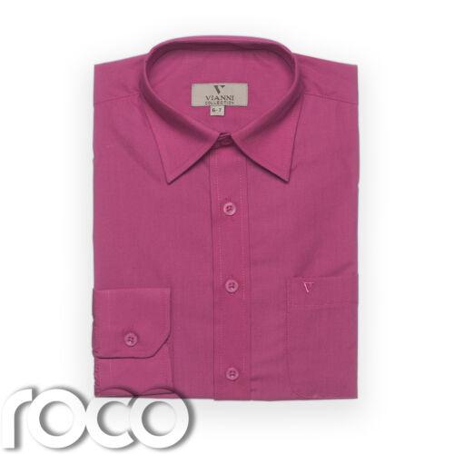 Boys Cerise Shirt Kids Shirts Formal Shirts Dress Shirts Childrens Shirts
