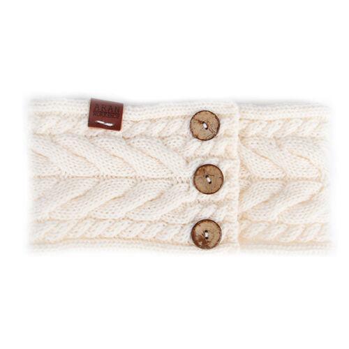 Aran atelier Womans hiver femmes automne Câble Style Blanc Crème Bandeau
