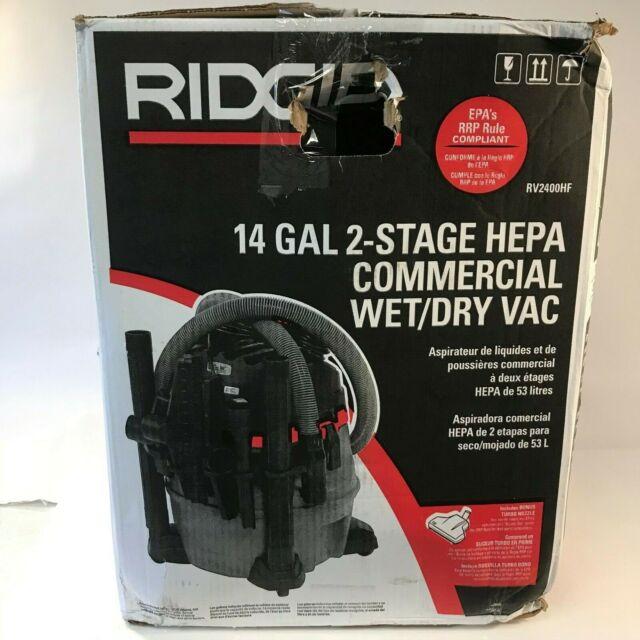 14 gal Ridgid 50368 RV2400HF HEPA Wet//Dry Vacuum Red