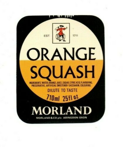 England Morland /& Co Vintage Label Ltd. Abingdon Orange Squash