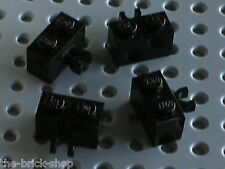 4 x LEGO Black Brick with Clip 30237 / Set 10176 7019 7783 4588 8779 8894 7248..