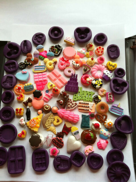 miniature Cake/Cup cake/Macoroon/Donut Flexible Polymer Clay /Resin /Push Mold
