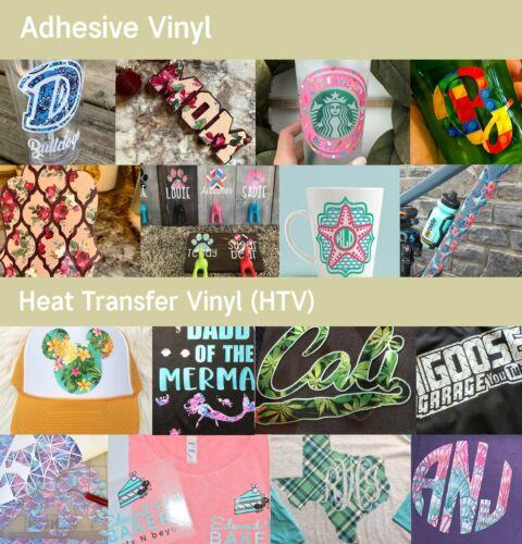 Craft vinyl 254 Rainbow Diagonal Stripes Printed HTV Pattered Iron on Vinyl