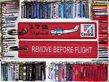 NEW! Cessna C172 Skyhawk keychain keyring tag remove before flight pilot owner