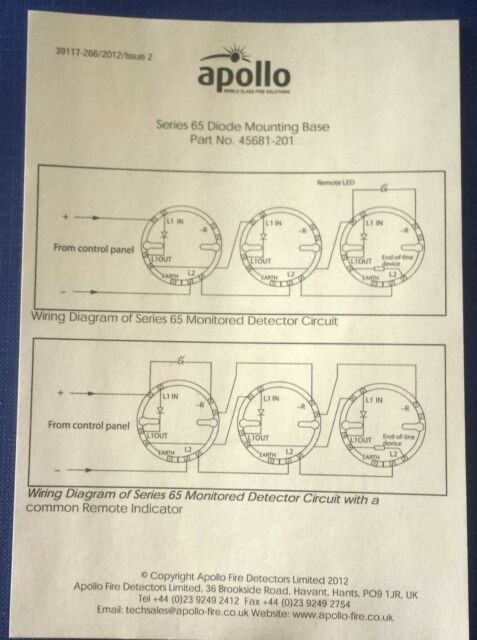 5x Apollo Series 65 Detector Base S65 45681 200 Apo For Sale