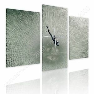 Helicopter-In-Water-by-Split-3-Panels-Ready-to-hang-canvas-3-Panels-Wall-art