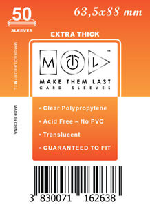 MTL Card Sleeves THICK TCG: Size 63,5x88 50 PCS MTG, Rum & Bones, Arcadia Quest