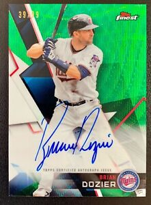 2018 Topps Finest BRIAN DOZIER Autograph Green Wave Refractor SP /99